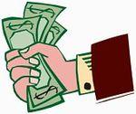 Cashin hand