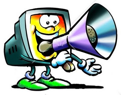 74912-Royalty-Free-RF-Clipart-Illustration-Of-A-Computer-Speaking-Through-A-Megaphone-Trumpet